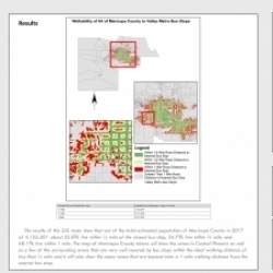 Walkability of All Valley Metro Bus Stops in Maricopa County